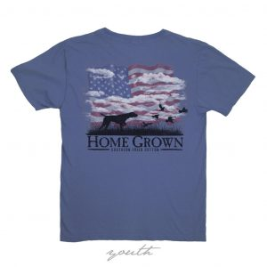 Southern Fried Cotton Youth SS T-shirt- Summer Shadow Navy
