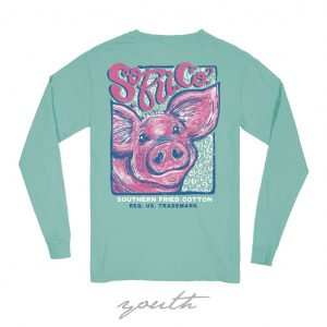 Southern Fried Cotton Youth T-shirt- Seafoam