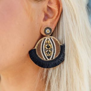 Statement Earrings- Black