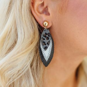 Statement Earrings- Leopard