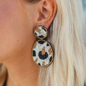 Statement Earrings- Cream
