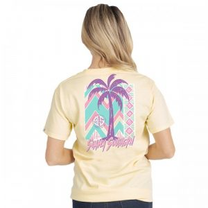 Palm Tree Pale Yellow T-shirt