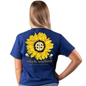 Simply Southern T-shirt- Midnight Sunflower