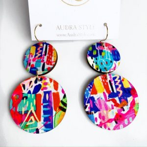 Audra Style Vivian Earrings- Abstract