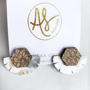 Audra Style Miranda Earrings- Taupe Snake New Neutral